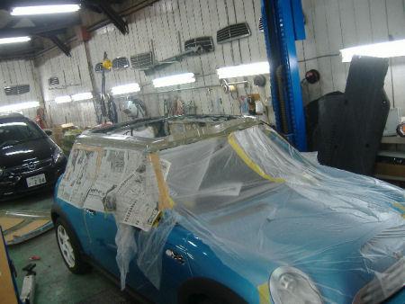 450|338|BMWミニの板金塗装5