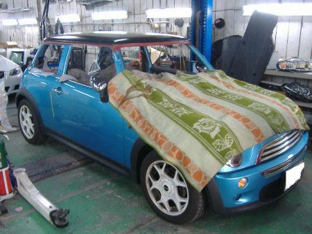 450|338|BMWミニの板金塗装7