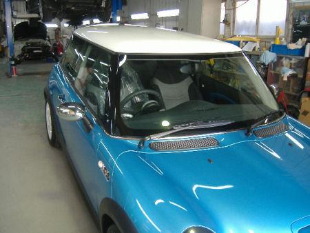 450|338|BMWミニの板金塗装21