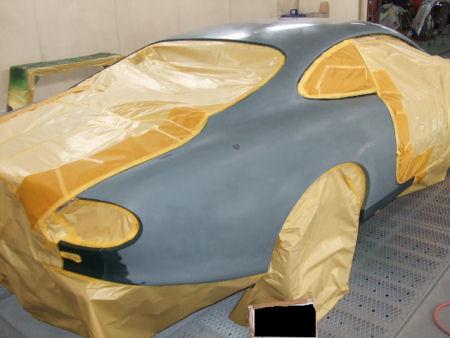450|338|ジャガーXKの板金塗装。14