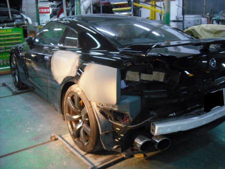 450|338|日産GT-Rの板金塗装